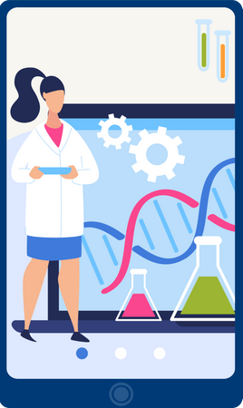 Online DNA Structure research Illustration