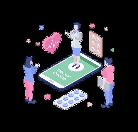Online doctor Illustration