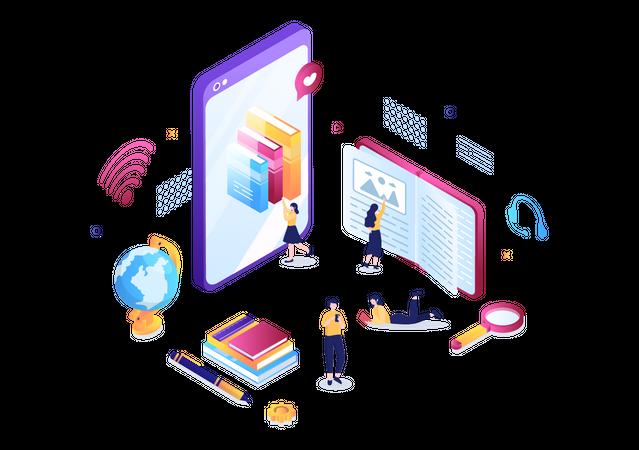Online Education Illustration