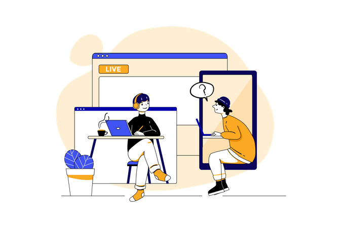 Online Education course Illustration