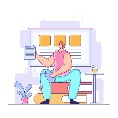 Online education test Illustration