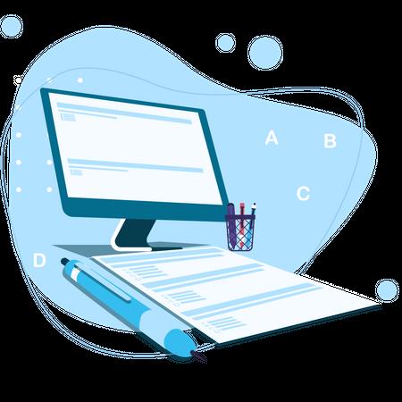 Online Exam Illustration