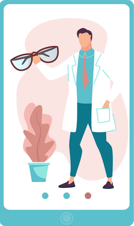 Online Eye Consultation Illustration