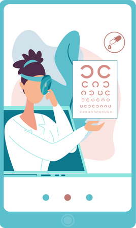 Online eye testing Illustration