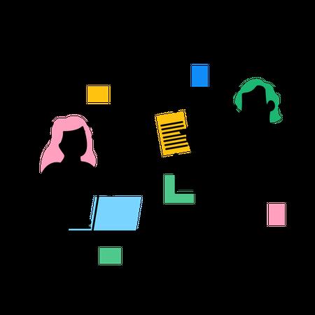 Online File sharing Illustration
