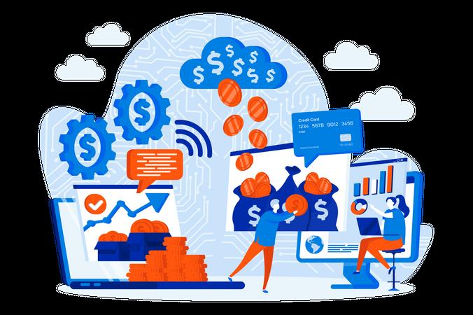 Online Financial Management Illustration