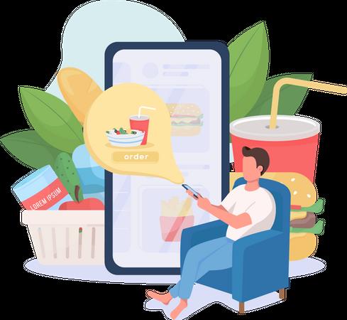 Online food order Illustration