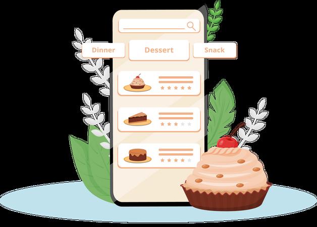 Online food order app Illustration
