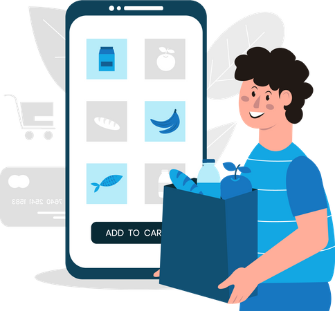 Online Glossary Purchasing Application Illustration