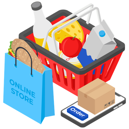 Online Glossary shop Illustration