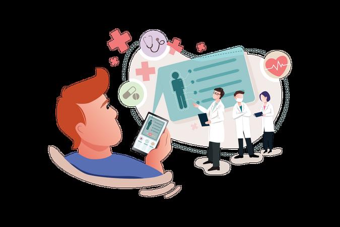 Online Health Guidance Illustration