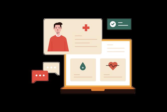 Online Health Monitoring Illustration