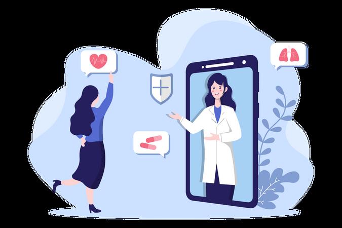 Online Healthcare Illustration