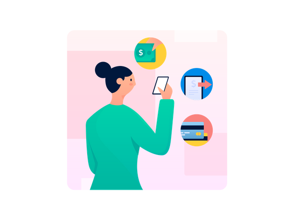 Online Hospital Bill payment Illustration