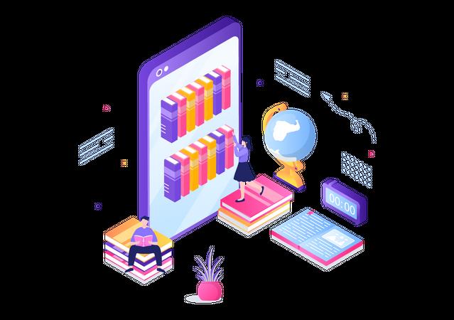 Online Learning App Illustration