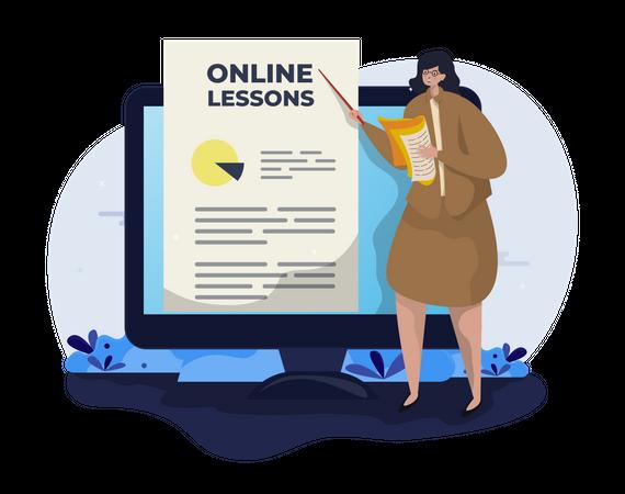 Online Lessons Illustration