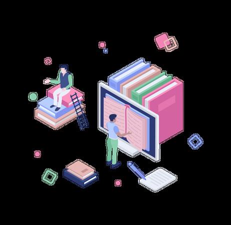 Online library Illustration