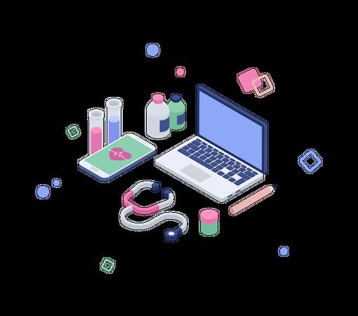 Online medical Illustration