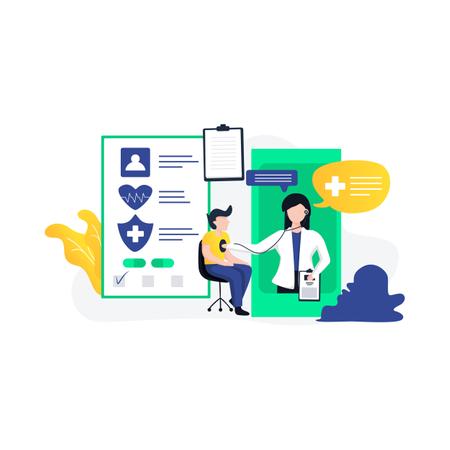 Online medical application Illustration