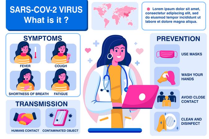 Online medical guides Illustration