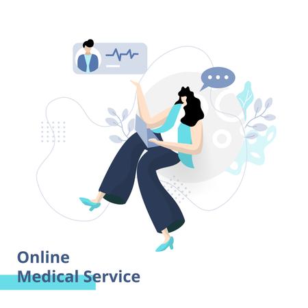 Online Medical Service Illustration