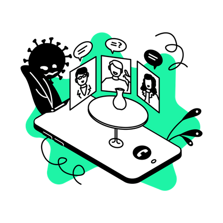 Online meeting Illustration