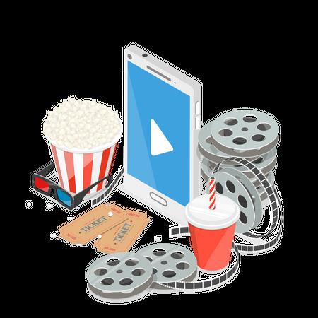 Online movie Illustration