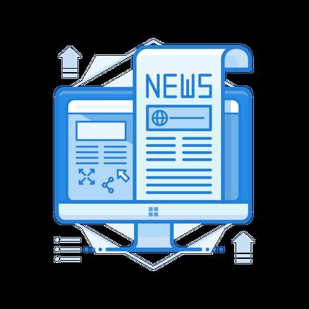 Online News Illustration