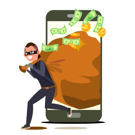 Online Payment Hacker Illustration