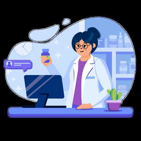 Online pharmacy Illustration