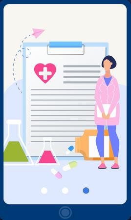 Online Prescription Illustration