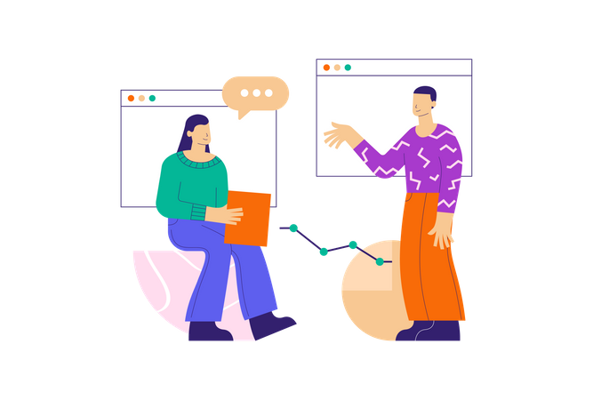 Online Presentation Illustration