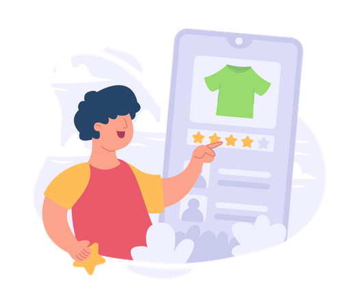 Online product rating Illustration
