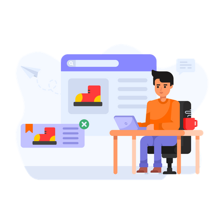 Online Product Selling Illustration