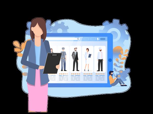 Online Profile Search Illustration