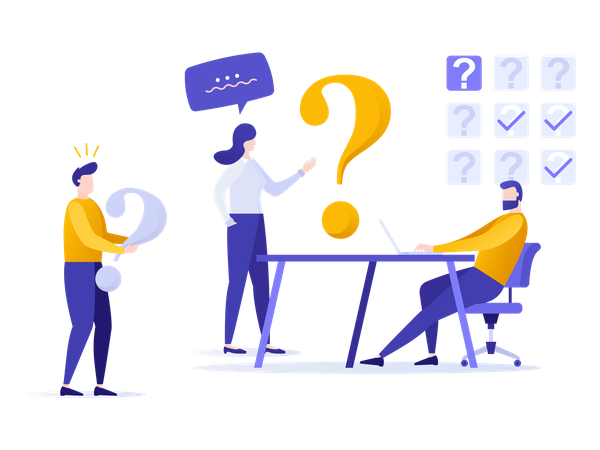 Online question answer Illustration