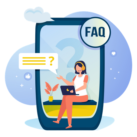 Online question & answer for FAQ concept Illustration
