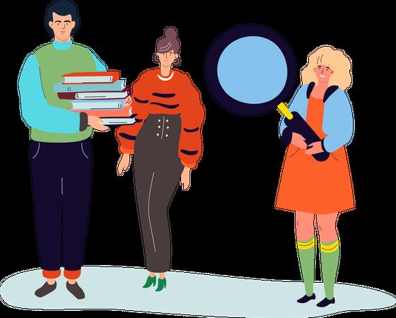 Online reading Illustration