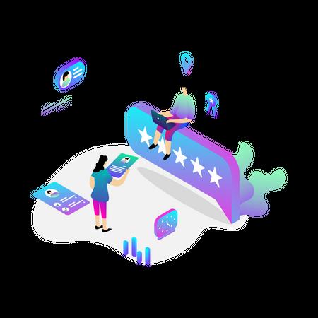 Online Recruitment Illustration