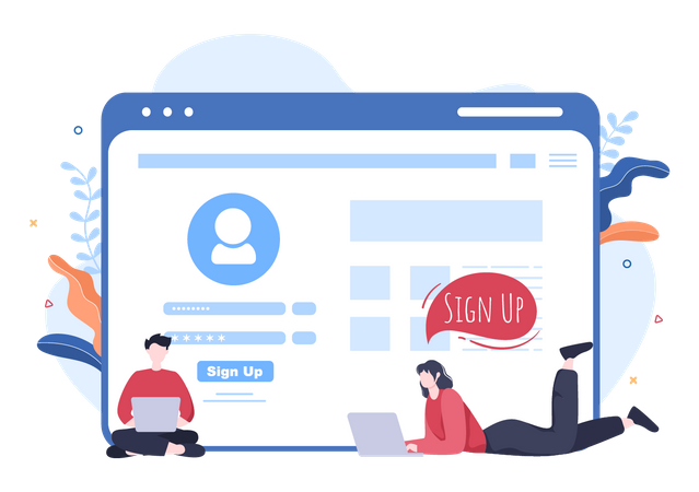 Online Registration Illustration