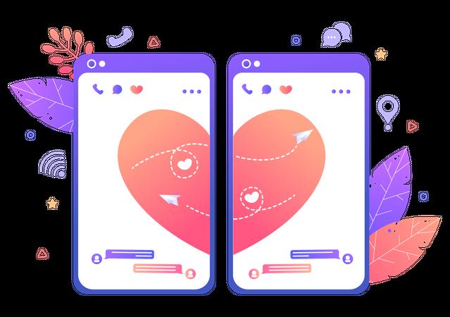 Online relationship Illustration
