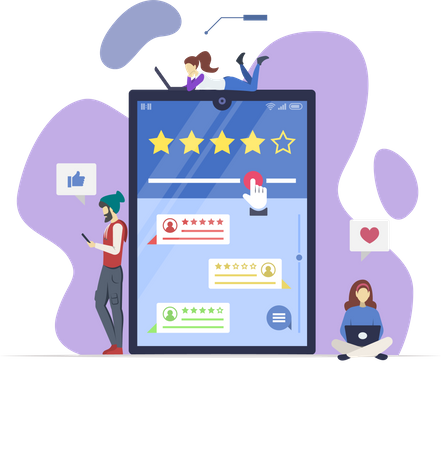 Online reviews Illustration