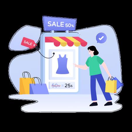 Online Sale Illustration