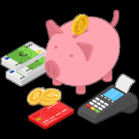 Online Savings Illustration