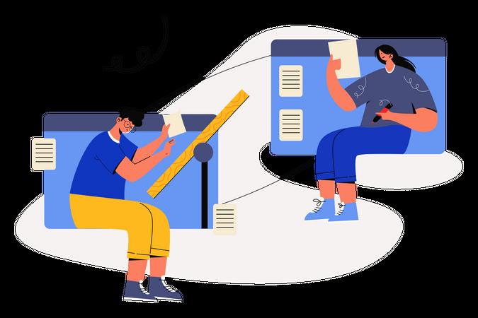 Online School Illustration