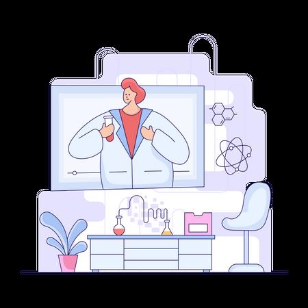 Online Science Tutoring Illustration