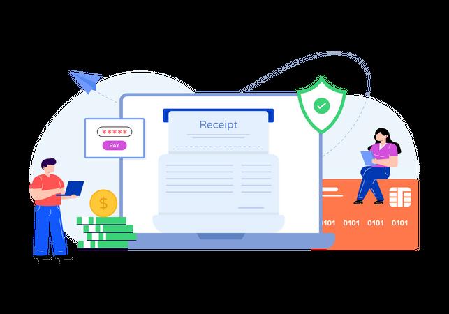 Online secure payment Illustration