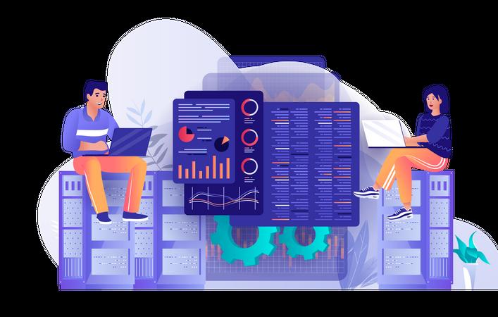Online Server Manager Illustration