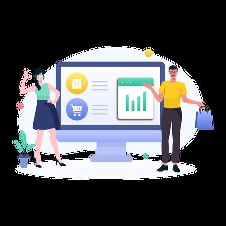 Online Shopping Illustration