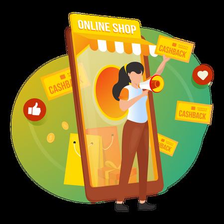 Online Shopping Offer Illustration